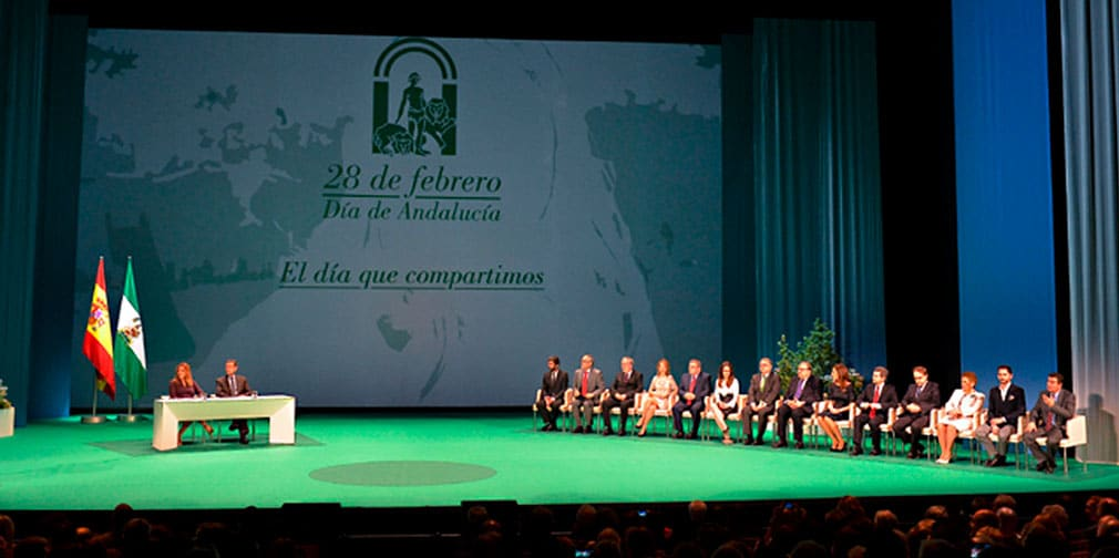 Entrega de medallas de Oro de Andalucía